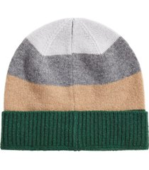 club room men's colorblocked cashmere beanie, created for macy's