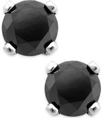 black diamond round stud earrings in 10k white gold (1/3 ct. t.w.)