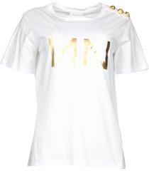 t-shirt met logo print dea  wit