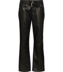 rta dexter belted boyfriend trousers - black