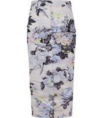 multicolor technical fabric skirt