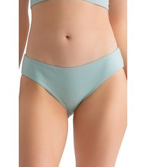 women's tavik ali bikini bottoms, size medium - blue/green