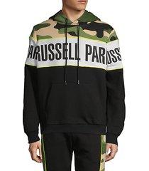 camouflage logo cotton-blend hoodie