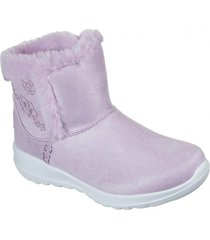 botin morado go walk joy sweet cuddles skechers