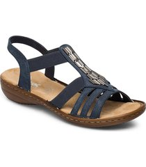 60800-14 shoes summer shoes flat sandals blå rieker
