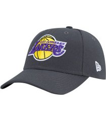 boné aba curva new era 940 los angeles lakers team color - snapback - adulto - cinza escuro