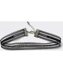 river island girls black diamante lace choker necklace