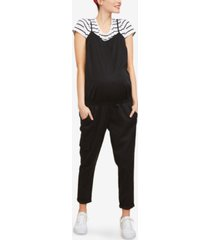 motherhood maternity cargo jumpsuit