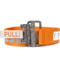 heron preston reflective tape belt - orange