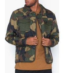 only & sons onsrain ribstop quilted jacket otw jackor mörk grön