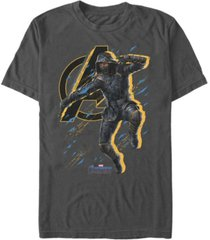 marvel men's avengers endgame ronin splatter pose short sleeve t-shirt