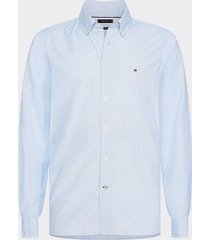 camisa slim soft geo print shirt azul tommy hilfiger
