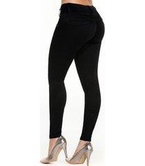 jean skinny negro con ribetes y corte corazón
