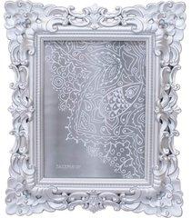 porta retrato minas de presentes 1 foto 15x20cm prateado - prata - dafiti