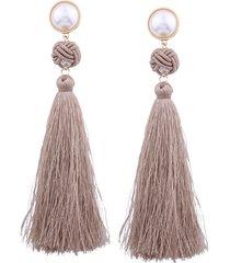fashion pearl nappe orecchini pendenti etnici colorati lunghi orecchini a goccia regalo per le donne