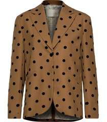 vina, 705 wool tailoring blazer colbert bruin stine goya