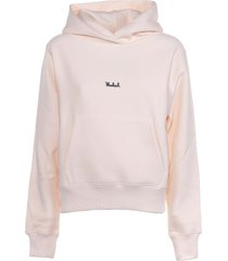 woolrich ivory hoodie with front logo