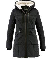 giaccone con cappuccio foderato (nero) - bpc bonprix collection