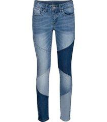 jeans skinny cropped (blu) - rainbow