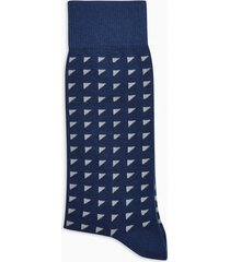 mens navy geometric ditsy socks