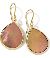 ippolita 'rock candy - mini teardrop' 18k gold earrings in yellow gold/brown shell at nordstrom