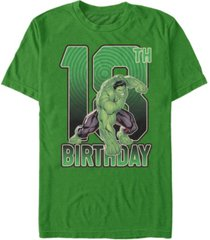 fifth sun men's marvel hulk smash 18th birthday short sleeve t-shirt