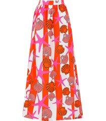 the delano skirt, red seashells