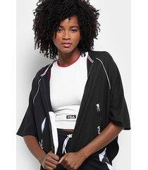 jaqueta fila poncho feminina - feminino