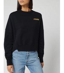 golden goose deluxe brand women's fureshia sweatshirt - black/kimono patch - m - black