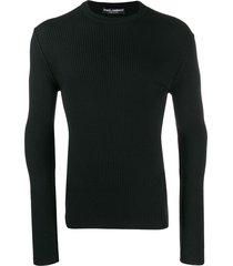 dolce & gabbana ribbed sweatshirt - black