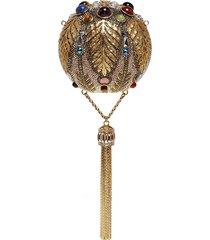 'pax sphere' crystal tassel clutch