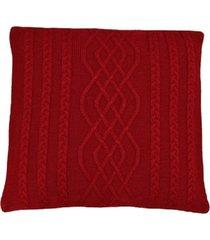 capa almofada tricot 40x40cm c/zãper sofa trico cod 1026 vermelho - vermelho - feminino - dafiti