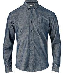 skjorta i smalspårig manchester
