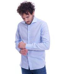slim fit microfantasy french collar shirt