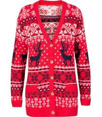 cardigan con motivi norvegesi (rosso) - bpc bonprix collection
