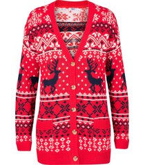 cardigan con motivi norvegesi (rosso) - bpc bonprix collection