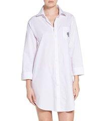 women's lauren ralph lauren his sleep shirt, size x-large - white