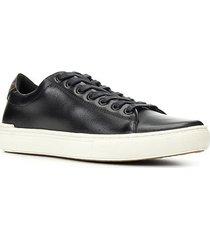 sapatênis couro shoestock básico liso masculino - masculino