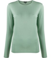 aspesi round long-sleeve t-shirt - green