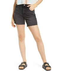 women's blanknyc the warren high waist long shorts, size 26 - black
