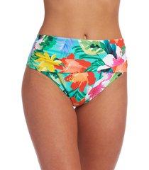la blanca tropea overlap hipster bikini bottoms, size 12 in aquamarine at nordstrom