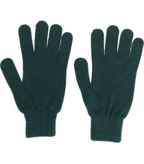 paul smith knitted fitted gloves - green