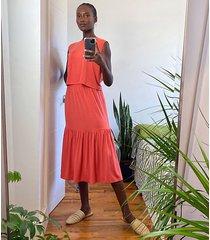 lou & grey lou & grey signaturesoft jersey ruffle midi skirt