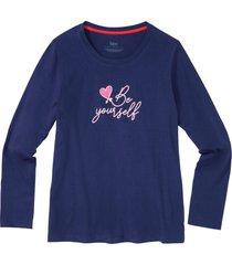 maglia pigiama in cotone biologico (blu) - bpc bonprix collection