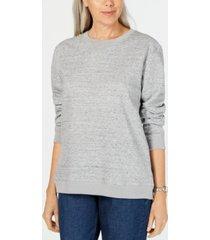 karen scott petite fleece sweatshirt, created for macy's
