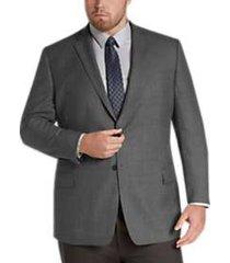pronto uomo platinum executive fit sport coat black & white tic