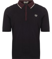 fred perry authentic reissues pointelle design knitted shirt k2300-608