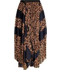 leopard chiffon midi wrap handkerchief skirt