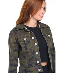 chaqueta camuflada verde militar marca trucco's