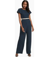 tommy hilfiger women's essential short-sleeve jumpsuit sky captain - 8